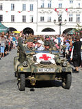 KDF 82 Kubelwagen (also VW 82, Type 82) with red cross (ambulanc Royalty Free Stock Photos