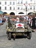 KDF 82 Kubelwagen (anche VW 82, tipo 82) con la croce rossa (ambulanc Fotografie Stock Libere da Diritti