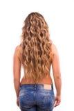 Kędzierzawa dziewczyna z długie włosy Zdjęcie Royalty Free