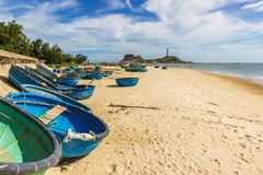 Ke dziąseł latarnia morska stara latarnia morska Wietnam Obraz Royalty Free