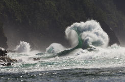 Ke`e Beach, Super Wave, Kauai, Hawaii stock photography