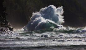 Ke`e Beach, Super Wave, Kauai, Hawaii royalty free stock photos