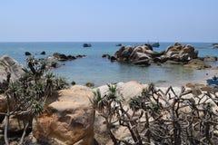 Ke Ga海滩在越南 免版税库存照片