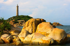 Ke Ga lighthouse in early morning sunshine Royalty Free Stock Image