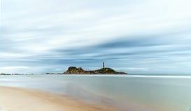 Ke Ga Lighthouse lonely beachfront Stock Image