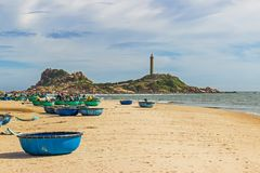 Ke Ga Lighthouse ,the oldest lighthouse of Vietnam. Binh Thuan province, Vietnam.South China Sea Stock Image