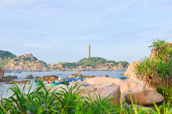 Ke Ga lighthouse at Phan Thiet stock photo
