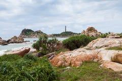 Ke-gummin sätter på land på Mui Ne, Phan Thiet, Vietnam Royaltyfri Foto