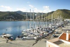 Kea希腊人海岛小游艇船坞  库存图片