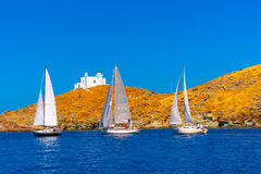 In Kea island in Greece Stock Photos