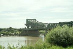 Keadby bro som spänner över floden Trent arkivbild
