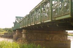Keadby bro som spänner över floden Trent fotografering för bildbyråer