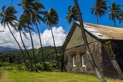 Keanae kongregationalistisk kyrka, Maui, Hawaii Arkivbilder