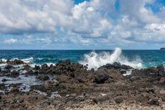 Keanae Point Shoreline 2. A view of Keanae Point shoreline on Maui, Hawaii Stock Photo