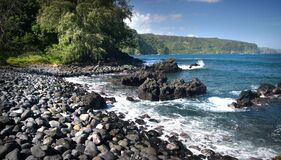 Keanae Road to Hana. Maui. Royalty Free Stock Photography
