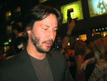 Keanu Reeves. At the Toronto Film Festival royalty free stock photography