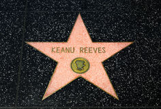 Keanu Reeves gwiazda na Hollywood spacerze sława Obraz Stock