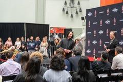 Keanu schier ein Der Handprints und die Abdr?cke des Schauspielers zementiert auf Hollywood Boulevard lizenzfreies stockfoto