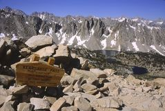 At Kearsarge Pass in Eastern California Royalty Free Stock Photos