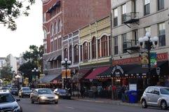 Keating-Gebäude an 5. Allee in Viertel Sans Diego's Gaslamp Stockbilder