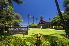 Keawalai kościół, południowy Maui, Hawaje, usa Zdjęcie Stock