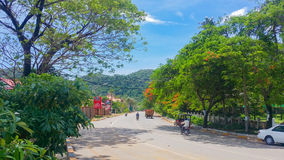 Keb province cambodia. Keb province kingdom of cambodia scenic view of countryside typical khmer village life Stock Photos