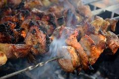 Kebab或烤肉 免版税库存图片