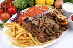 kebab混合土耳其 免版税图库摄影