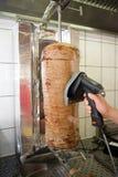kebab肉人员切 库存照片
