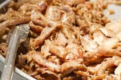 kebab背景的烤肉 免版税库存图片