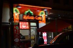 KEBAB餐馆在图卢兹,法国 图库摄影