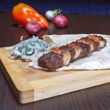 Kebab του κιμά Στοκ εικόνα με δικαίωμα ελεύθερης χρήσης