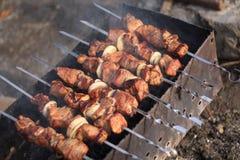 kebab χοιρινό κρέας κρεμμυδιών Στοκ εικόνα με δικαίωμα ελεύθερης χρήσης