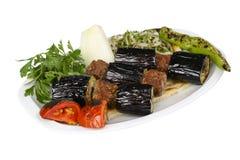 Kebab баклажана стоковые изображения rf