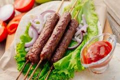 Kebab Быстро-приготовленное питание Восточная еда Стоковое Изображение