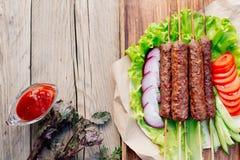 Kebab Быстро-приготовленное питание Восточная еда Стоковые Изображения