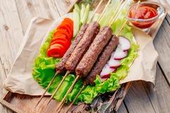 Kebab Быстро-приготовленное питание Восточная еда Стоковая Фотография