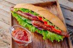 Kebab Быстро-приготовленное питание Восточная еда Стоковое Изображение RF
