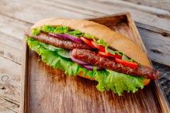 Kebab Быстро-приготовленное питание Восточная еда Стоковые Фото