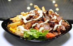 kebab быстро-приготовленное питания тарелки Стоковая Фотография