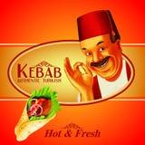 Kebab вкусное бесплатная иллюстрация