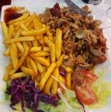 Kebab и фраи Стоковые Изображения RF