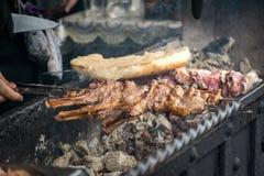 Kebab от зажаренных овечки и мяса стоковое изображение
