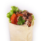 Kebab. Turkey kebab isolate on white Stock Photography
