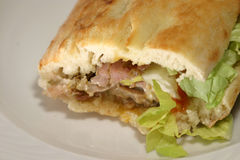 Kebab. Turkish sandwich - horizontal Royalty Free Stock Images