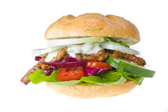 Kebab. Doner kebab sandwich isolated on white Royalty Free Stock Photos