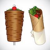 Kebab Abbildung stock abbildung