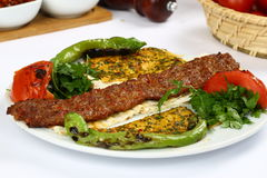 Kebab adana Turkish Стоковые Фотографии RF