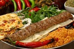 Kebab adana Turkish Стоковые Изображения RF