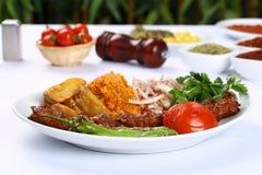 Kebab adana Turkish Стоковая Фотография RF